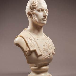 An Important Marble Portrait bust of Prince Albert