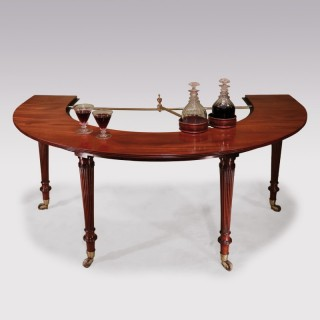 A Regency period Gillows social or wine table