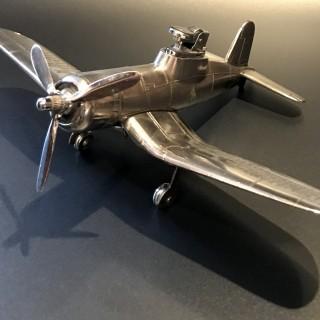 Vintage Chrome Airplane Lighter