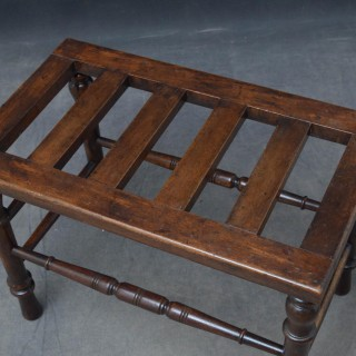 Victorian Walnut Luggage Rack by Norton & Co