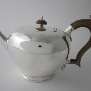 Antique George VI Sterling silver teapot
