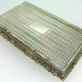 Large Silver  Snuff Box