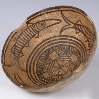 Indus Valley Terracotta Polychrome Bowl