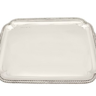 Sterling Silver Tray - Antique Edwardian