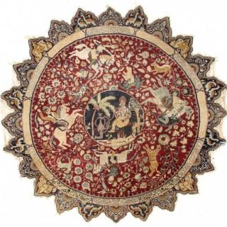 Antique Rounded Kayseri Rug, Turkey