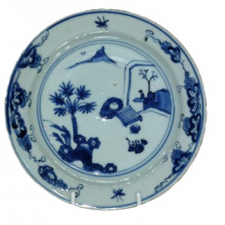 Chinese Ming Blue and White Ko-sometsuke Plate
