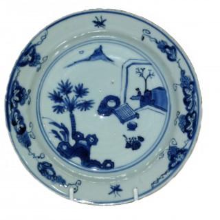 Chinese Ming Blue and White Ko-sometsuke Plate