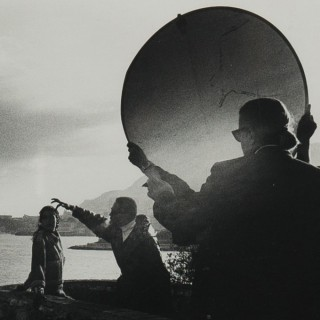 Original photograph of Karl Lagerfeld on location
