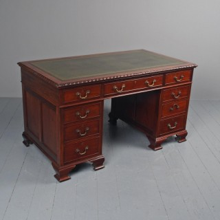 Georgian Style Mahogany Kneehole Desk