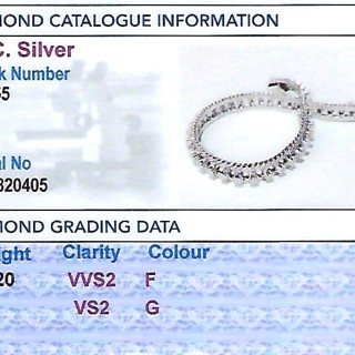 2.20 ct Diamond and 18 ct White Gold Bracelet - Vintage Circa 1970
