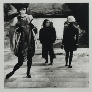 Original photograph of Helena Christensen on steps by Karl Lagerfeld