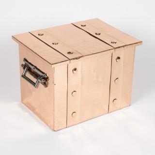 Arts & Crafts copper box