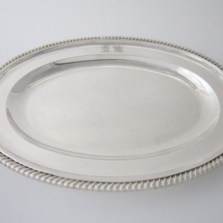 Antique Victorian Sterling silver serving dish/ meat platter