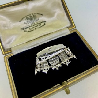 Diamond Naval Brooch