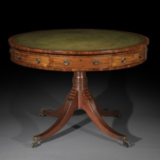 George III Regency Library Drum Table