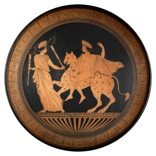 Massive Grand Tour Red Figure Pottery Charger