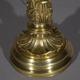 Fine Regency Bronze Table Lamp