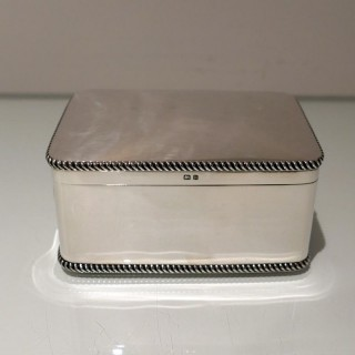 Early 20th Century Antique Edwardian Sterling Silver Biscuit Box Birmingham 1909 E J Greenberg