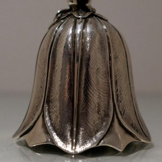 19th Century Antique Victorian Sterling Silver Bell London 1890 George Lambert