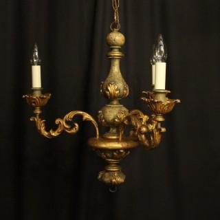 Florentine Triple Light Polychrome Chandelier