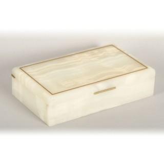 Antique Art Deco Onyx Cigarette Card Box Casket by Dunhill C1920