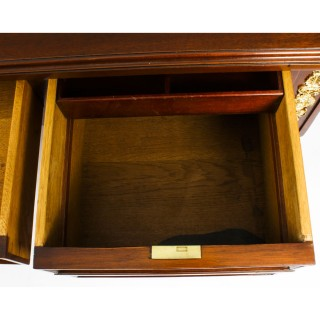 Antique French Empire Revival Bureau Plat Desk Writing Table 19th C