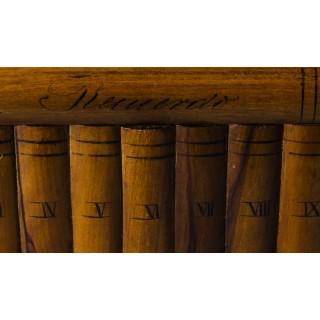 Antique Italian Sorrento Ware Olive Wood Casket C1920