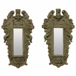A PAIR OF SMALL VENETIAN MIRRORS