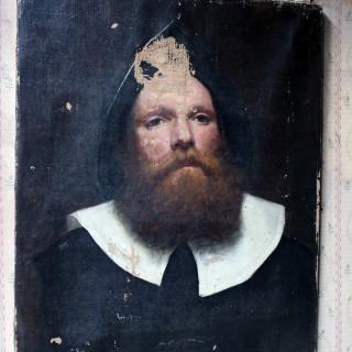 19thC Dutch School Oil on Canvas Portrait of a Gentleman c.1870-85