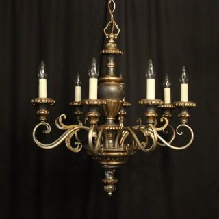 Italian Florentine Giltwood 6 Light Chandelier