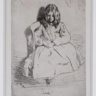 James Abbott McNeil Whistler (1834-1903) Annie seated, etching 1858