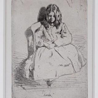 James Abbott McNeil Whistler (1834-1903) Annie seated, etching 1858