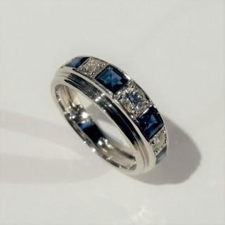 Sapphire and diamond ring c.1950