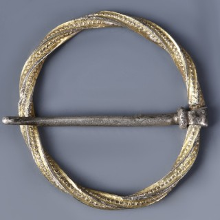 Medieval Annular Brooch with Original Pin
