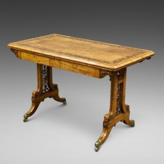 An exceptional Olive wood table attributed to Town & Emanuel