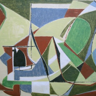 Le Champs de Bourgogne II  by  Othello Radou (1910-2006)