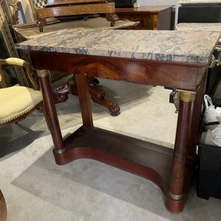 A PAIR OF FRENCH EMPIRE PERIOD CONSOLE TABLES
