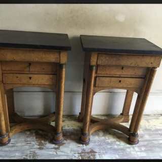 A RARE PAIR OF BURR ELM CABINETS FRANCE C 1800