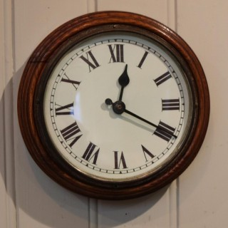 Solid Oak School Wall Clock