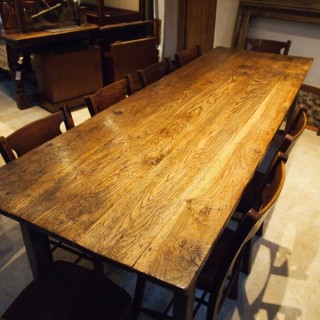 Table Outstanding Refectory Dining George III Oak Farmhouse C1800