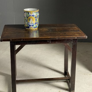 Very good colour on this oak table with central stretcher c1740