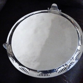 A stunning silver Adam revival style salver, London 1879