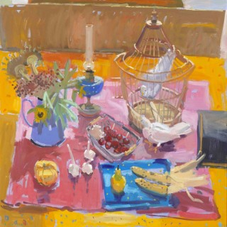 Still Life on Pink and Blue by Glen Scouller