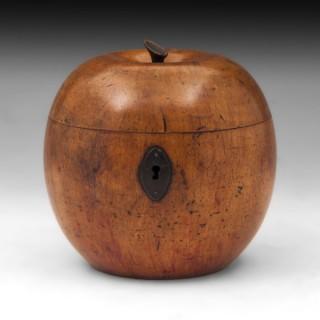 Antique Apple Tea Caddy