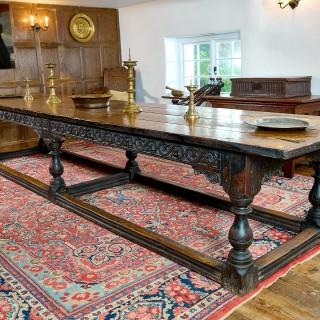 Charles II oak table
