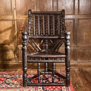 16th century Yew wood turners armchair