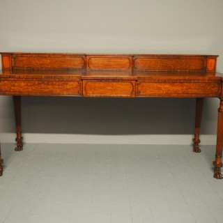 George III Scottish Mahogany Stage-Back Sideboard