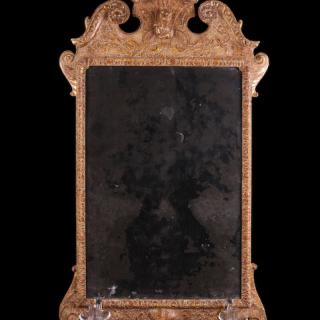 A Queen Anne Gesso Mirror