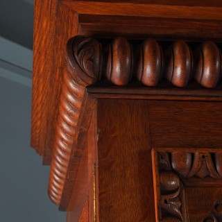 Oak Silver Cabinet with Breadalbane Coat of Arms
