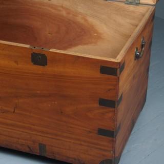 Large Victorian Brass-Bound Camphorwood Trunk
